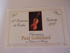CHAMPAGNE PAUL GOBILLARD CONCOURS DE CORDES  PIERRY  2000 MAGNUM  150 CL      ***  RARE   A SAISIR **** - Champagne