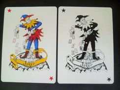 VINTAGE !!   2  Pcs. Guinness Stout Beer Black Playing Card Joker On Globe  (#84) - Playing Cards (classic)