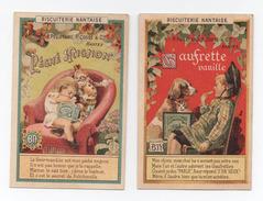 """2 Images Biscuiterie Nantaise """"Gaufrette Vanille"""" Et """"Péché Mignon"""" - Zonder Classificatie"""