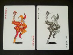 VINTAGE !!   2 Pcs.  Budweiser Beer Playing Card Rattles Dancing Joker  (#90) - Kartenspiele (traditionell)
