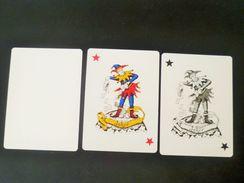 VINTAGE !! 3 Pcs. Dester Beer Playing Card Joker On Globe + Blank Ghost Card (#96) - Barajas De Naipe