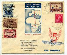 Stanleyville-Bruxelles Par Sabena Vol Accéléré 1936 - Congo Belge