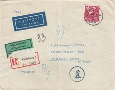 LETTRE. COVER.  SUEDE. 14 8 1942. RECOMMANDE EXPRES GÖTEBORG POUR LEVALLOIS-PERRET - Sweden
