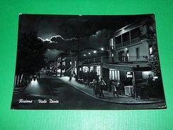 Cartolina Riccione - Viale Dante ( Notturno ) 1958 - Rimini