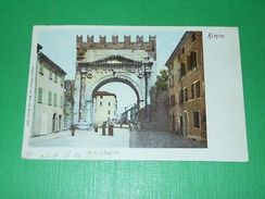 Cartolina Rimini - Arco D' Augusto 1900 Ca - Rimini