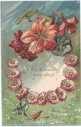 Je Les Ai Cueillies Pour Vous /Marguerites Et Liseron /Gaufrée / Trumet / Estissac / Aube/1905     CFA9 - Holidays & Celebrations