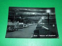 Cartolina Rimini - Notturno Sul Lungomare -- 1960 - Rimini