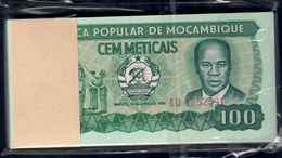 MOZAMBICO 100 Meticais 1983 Mazzetta 100 Banconote Fds Unc - Mozambique