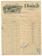 TOP Facture De 1901 H.MARCHE & Cie à FOURMIES Peignage Filature & Retordage De Laines Entête USINE - France