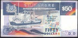 Singapore - 50 Dollars 1987 P22b - Singapore