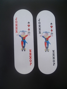 VINTAGE !! RARE !! 2 Pcs. Tiger Beer Super Cold Big Nose Puppet Oval Playing Card Joker (#1) - Playing Cards (classic)