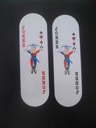 VINTAGE !! RARE !! 2 Pcs. Tiger Beer Super Cold Big Nose Puppet Oval Playing Card Joker (#1) - Kartenspiele (traditionell)