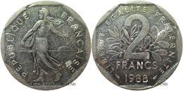 France - Ve République - 2 Francs Semeuse Nickel 1988 - TB - Fra2383 - I. 2 Francs