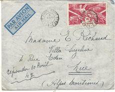 MOYEN CONGO PAR AVION POUR NICE - Congo Français (1891-1960)