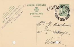 LIGNE,(ATH),carte Publicité ,Edgard Deloi ,mécanique ,électricité ,Grande Griffe Linéaire Ligne 1936 - Marcofilia