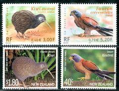 FRANCIA 2000** - NEW ZEALAND 2000** - Uccelli / Birds - 4 Val MNH Come Da Scansione - Kiwi