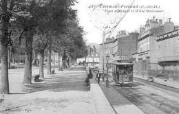 Clermont-Ferrand - Place D'Espagne Et La Rue Montlosier - Tramway - Très Beau Plan Animé - Clermont Ferrand