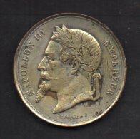 418-Médaille Société D'agriculture Et D'horticulture Du Gers, Napoléon III Sig. Bescher - Francia