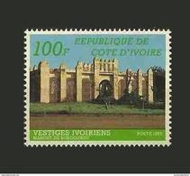 IVORY COAST COTE D'IVOIRE VESTIGES IVOIRIENS RELIGION MOSQUEE ARCHITECTURE 1985 YT 710A (RARE) MNH - Ivory Coast (1960-...)