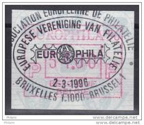 BELGIQUE COB ATM92 EUROPHILA 1996, 51 Fr OBL . (7A99) - Frankeervignetten