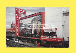 CPSM HAROLD S CLUB AND CASINO, CARS, RENO, NEVADA 1956 - Reno