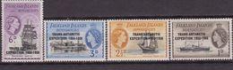 Falkland Is. Navi Shps Bateaux 66/69 MNH Overprint Trans Antartic Expedition 1955-1958 - Falkland