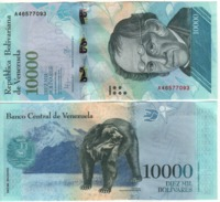 VENEZUELA. Attractive New  10'000 Bolivares   ( Bear ) Pnew.   2016  UNC. - Venezuela