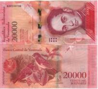 VENEZUELA. Attractive New  20'000 Bolivares   ( Red Siskin Bird ) Pnew.   2016  UNC. - Venezuela