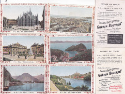 Bg - Lot De 33 Chromos Chocolat Guérin Boutron - Voyage En Italie (Naples, Palerme, Salerne, Girgenti, Messine, Florence - Guérin-Boutron