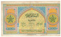 Maroc 2 Billets De 100 Francs  1943 Et 1944 ( 2ème Et 3ème émission) Grand Format - Marokko