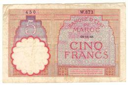 Maroc Billet De 5 Francs De 1941 (14-11-1941) - Maroc