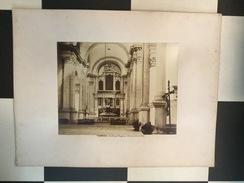 OLD CARDBOARD PHOTO   VENEZIA  ITALIA  ITALY  1860's   60 X 45 Cm - Lieux