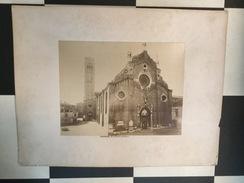 OLD CARDBOARD PHOTO   VENEZIA  ITALIA  ITALY  1860's   60 X 45 Cm - Orte