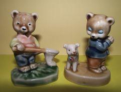 Lot De 2 Figurines Ours 6,5 Cm - Figurines