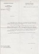 LETTRE Signée ALAIN PEYREFITTE Président Assemblée Nationale Au Poëte PAUL COBAN En 1971 - AUTOGRAPHE - Autographs