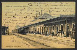 COGNAC Colorisée La Gare Vue Intérieure (Dames De France) Charente (16) - Cognac