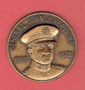 MEDAILLE BRONZE GENERAL JOHN J. PERSHING 1860 1948 GENERAL OF THE ARMIES MUSEE DE LACLEDE AU MISSOURI  GUERRE 1914 1918 - 1914-18