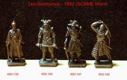 Kinder Métal 1992 : Série Complète Les Samouraïs – 1600 (SCAME Bruni)  (4 Figurines) - Metal Figurines