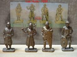 Kinder Métal 1994 : Série Complète Les Guerriers Huns – 1600 Avec Un BPZ (4 Figurines) - Metal Figurines