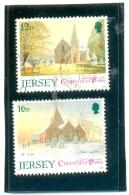 1988 JERSEY Y & T N° 447 - 448 ( O ) Noël - Jersey