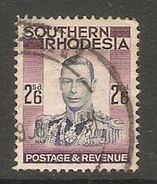 005271 Southern Rhodesia 1937 2/6d FU - Southern Rhodesia (...-1964)