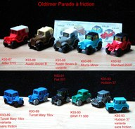 Kinder 1992 : Série Complète Les Voitures Anciennes + 3 Variantes (11 Figurines) - Lots