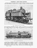 LOCOMOTIVE à 12 ROUES COUPLEES   1905 - Railway