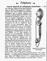 NOUVEL APPAREIL DE TELEPHONIE DOMESTIQUE  De La Maison MIDLé Et Cie   1905 - Telefoontechniek