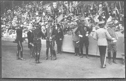 1912 Sweden Stockholm Olympics RP Official Postcard 268 Swedish King Presenting Horse Riding Competition Prizes - Olympic Games