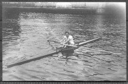 1912 Sweden Stockholm Olympics RP Official Postcard 278 W.D.Kinnear, England Single Scull Rowing - Olympic Games