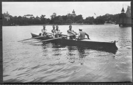 1912 Sweden Stockholm Olympics RP Official Postcard 281 Swedish Rowing Inrigged Fours - Olympic Games
