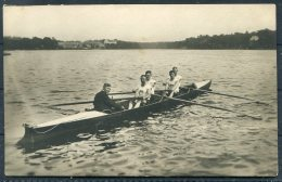 1912 Sweden Stockholm Olympics RP Official Postcard 282 Denmark Rowing Inrigged Fours Winners - Olympic Games
