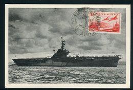 France / Algérie - Carte Maximum 1949 - Bateau De Guerre - Algerije (1924-1962)