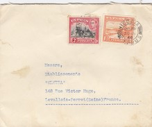 LETTRE. COVER.  CYPRUS. 20 7 1946. GEO. CHR. PAPADOPOULOS NICOSIA TO LEVALLOIS-PERRET FRANCE. - Chypre (...-1960)